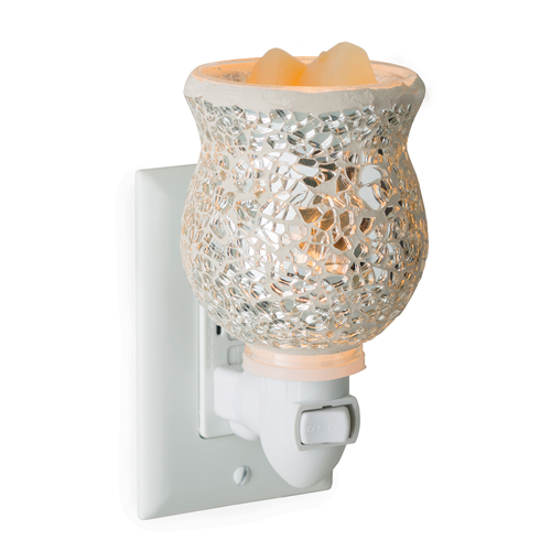 Glass Mosaic Pluggable Fragrance Warmer Reflection
