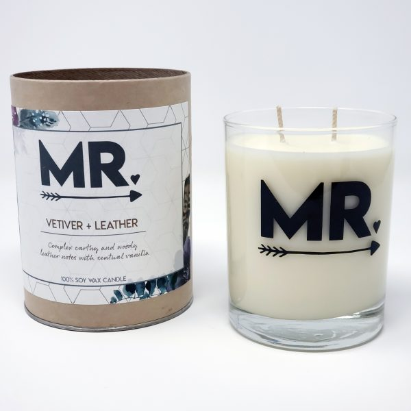 Mr wedding candle in gift tube