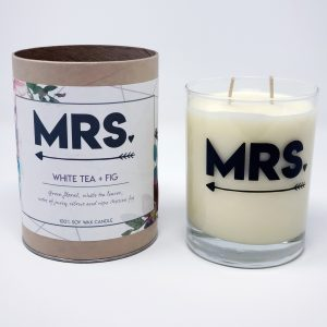 Mrs gift tube candle