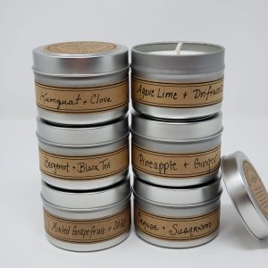 Set 6 Mini Artisan Citrus Scented Candles