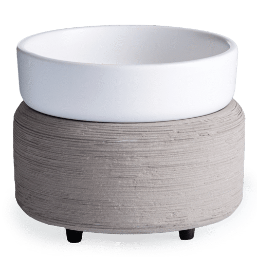 Gray Textured Candle 2-in-1 Classic Fragrance Warmer