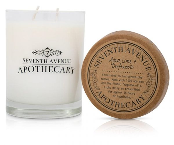 Agave Lime + Driftwood Soy Wax Candle
