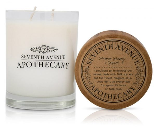 Cinnamon Whiskey + Spruce Soy Wax Candle
