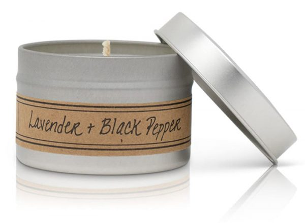 Lavender + Black Pepper Soy Wax Candle