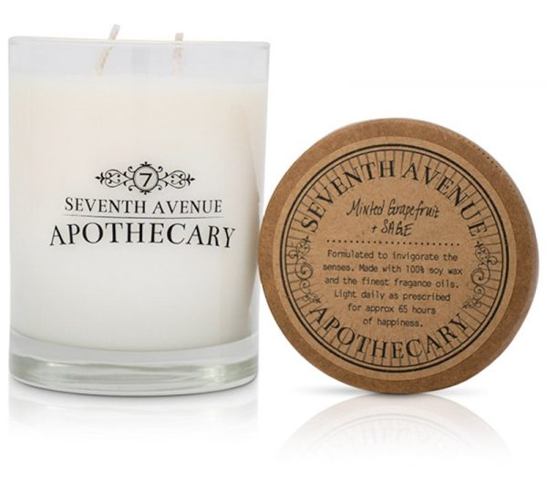 Minted Grapefruit + Sage Soy Wax Candle