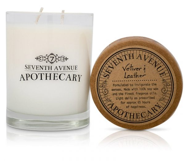 Vetiver + Leather Soy Wax Candle