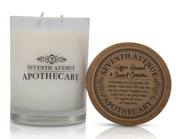 Toffee + Almond Sweet Cream Soy Wax Candle